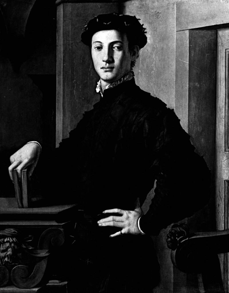 1530_Ritratto di giovane uomo con libro;Agnolo Bronzino;_a