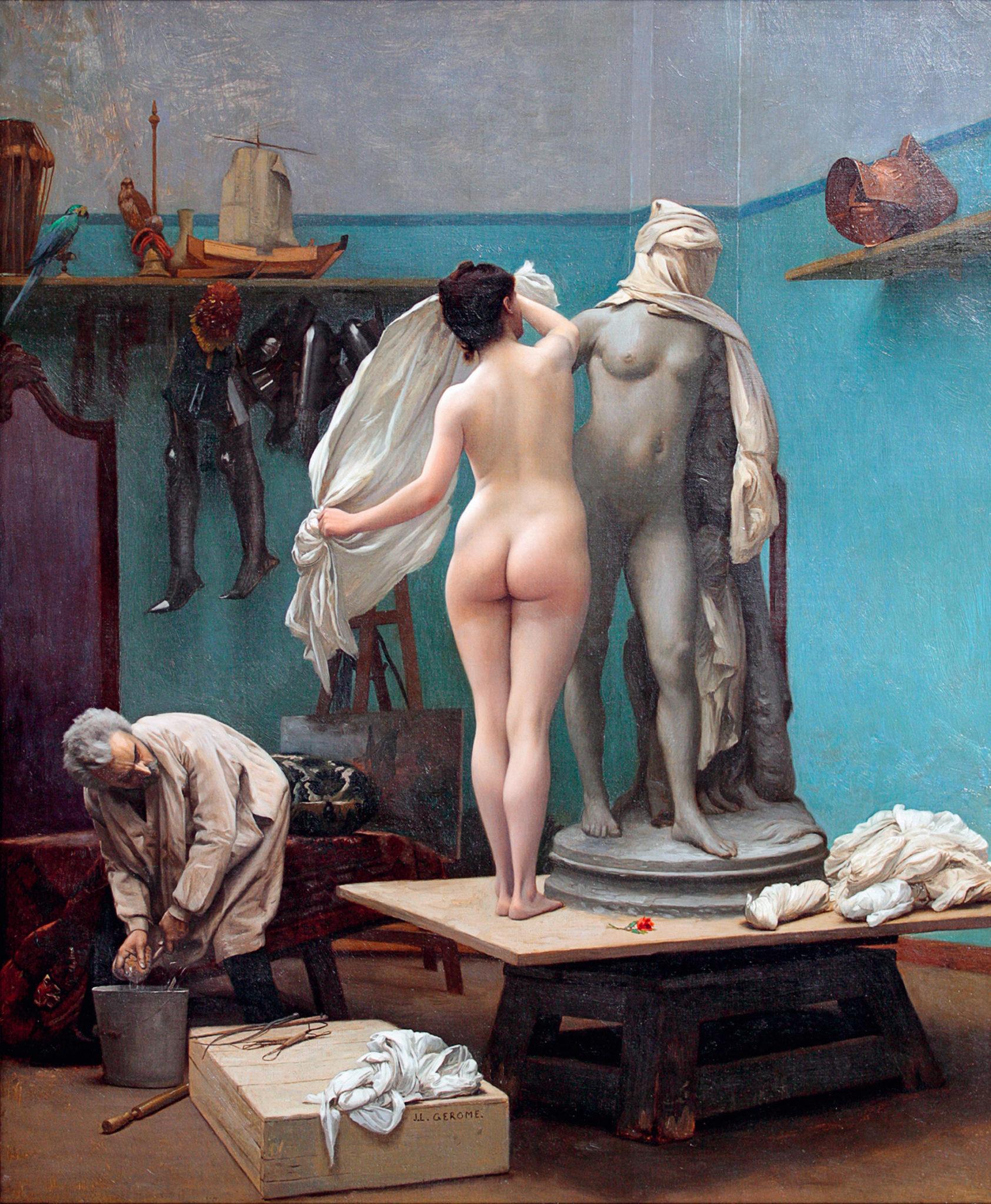 The end of the pose, by Jean-Léon Gérôme
