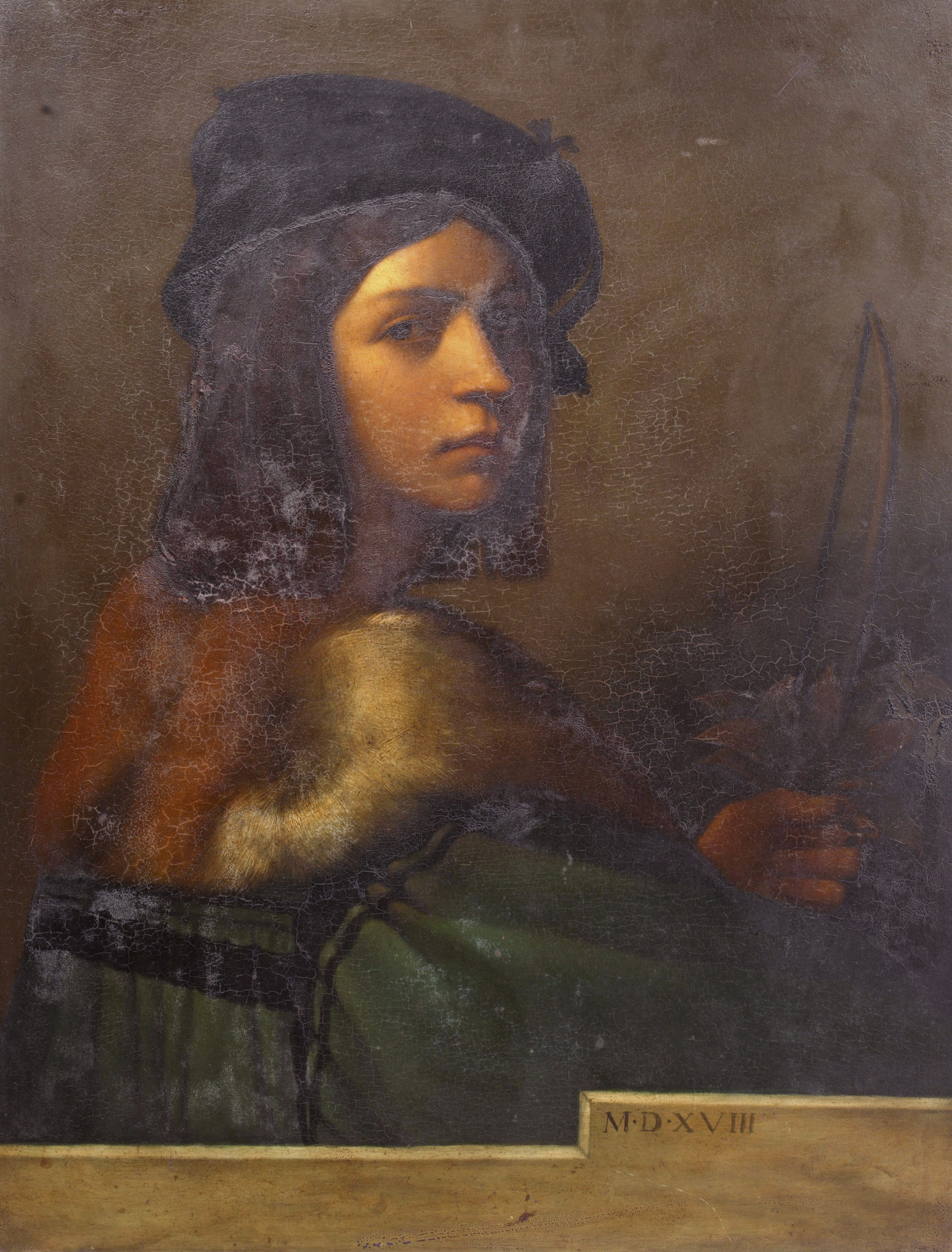 Self portrait, after Sebastiano del Piombo