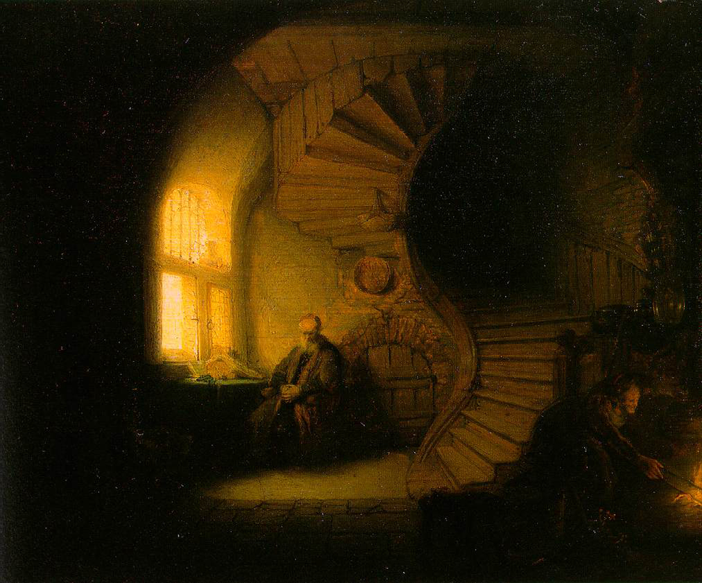 ARTWORK_1_011_2_Rembrandt Harmenszoon van Rijn_Philosopher in Meditation or Interior with Tobit and Anna